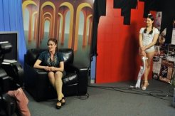 Promoting the show on Comedy Box, Channel 31